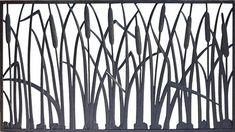 Pure Glory x Cast Iron Railing Panel at Menards®: Pure Glory x Cattail Cast Iron Railing Panel Cast Iron Railings, Metal Railings, Deck Railings, Loft Railing, Stair Railing, Stairs, Canopy Glass, Metal Garden Gates, Art Deco Door