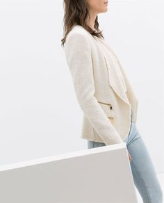 Image 4 of STRUCTURED JACKET WITH ZIPS from Zara