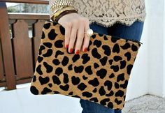 love the look of a leopard clutch