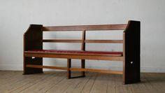 【古い教会の長椅子】アンティークベンチチェアソファスツール机 ¥50000円 〆03月15日