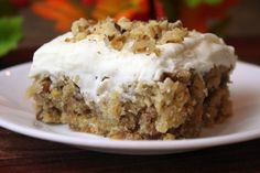 The Story of the Zucchini Bar Cookies by Dennis Weaver | Meridian Magazine - LDSmag.com | We have long had the recipe for a very good zucchini bar on our website.  It's thick, dense and chewy and covered with cream cheese frosting, the kind you would find on a carrot cake. After a few comments that the frosting was too rich, here is the original recipe with three other possible frostings to go on top.