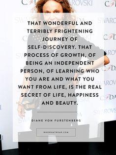 Diane von Furstenberg's Best Quotes Ever to Inspire an Amazing 2015 | WhoWhatWear.com