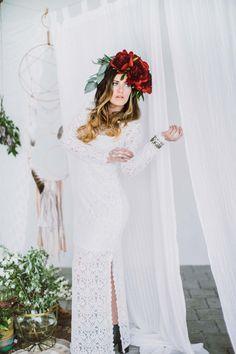 Die Boho-Braut: So gelingt das individuelle Hochzeitsstyling @Sabrina Schindzielorz  http://www.hochzeitswahn.de/selbstgemacht/die-boho-braut-so-gelingt-das-individuelle-hochzeitsstyling/ #inspiration #boho #bride