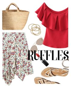 """""""Ruffles"""" by maria-maldonado ❤ liked on Polyvore featuring Isabel Marant, MAC Cosmetics, Christian Dior, ABS by Allen Schwartz and ruffledtops"""