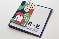 Showcase and discover creative work on the world's leading online platform for creative industries. Cv Design, Resume Design, Graphic Design, Resume Cv, Graphic Art, Self Branding, Personal Branding, Cv Original, E Claire