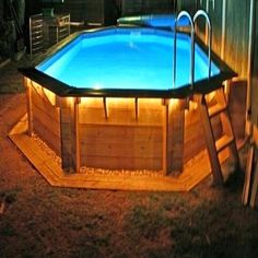 Having a pool sounds awesome especially if you are working with the best backyard pool landscaping ideas there is. How you design a proper backyard with a pool matters. Above Ground Pool Slide, Rectangle Above Ground Pool, Above Ground Pool Lights, Rectangle Pool, Above Ground Pool Landscaping, Backyard Pool Landscaping, Backyard Pool Designs, Above Ground Swimming Pools, Small Backyard Pools