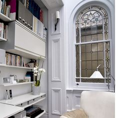 Small Clean Lovely Home Office Design Decor