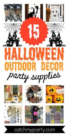 Halloween is one of my favorite holidays of the year and it's such a thrill prepping for it. Decorating a Halloween party is awesome but finding the perfect indoor and outdoor Halloween party decorations can be challenging. Check out the best 15 outdoor Halloween party decoration supplies we've rounded up to help you find the spookiest ones for you. See more party ideas and share yours at CatchMyparty.com