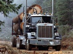 Peterbilt log hauler