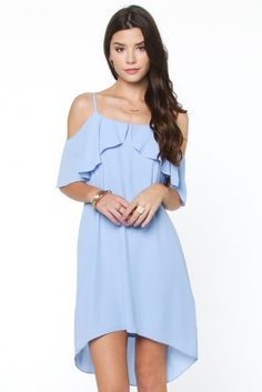 Stay impeccably beautiful in this flowy ruffle-detailed dress! In a shift silhouette, grace through any room with elegance in this cold shoulder dress, complimented with ruffled sleeves and adjustable https://www.pinterest.com/bellanblue/_products/