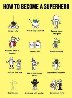 HOW TO BECOME A SUPERHERO. -