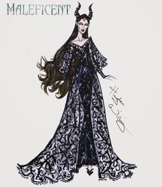 #Hayden Williams Fashion Illustrations #Maleficent collection by Hayden Williams: 'Horned Beauty'