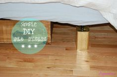 How to make your own bed risers from diypassion.com