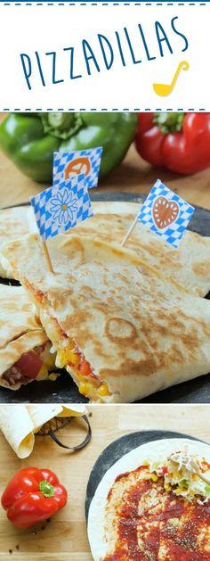 """""""Quesadillas"""" sind eine leckere mexikanische Spezialität. Aber warum einen Klassiker nicht mal etwas international aufpeppen? Quesadillas, Pizza, Burritos, Lose Weight, Low Carb, Mexican, Healthy, Ethnic Recipes, Foodblogger"""