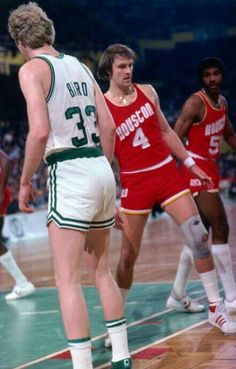 Two of the greats Larry Bird and Rick Barry