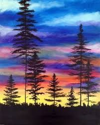 Image result for simple landscape paintings for beginners