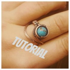 Wire ring tutorial, how to make a wire ring, wire wrap tutorials jewelry tutorials, gemstone ring tutorial Wire Rings Tutorial, Wire Wrapping Tutorial, Wire Tutorials, Ring Tutorial, Jewelry Making Tutorials, Copper Jewelry, Wire Jewelry, Handmade Jewelry, Copper Wire