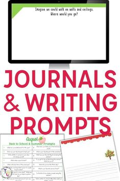 Journal prompts give students practice with varying writing genres and on-the-spot topics. Students build their creative writing skills along with their typing, grammar, spelling, creative writing, prompt writing, and publishing skills with these writing products. Perfect for second grade, third grade, and fourth grade, these writing prompts give students regular and engaging practice with varying writing prompts, genres, and formats. #writingprompts #writingcenters