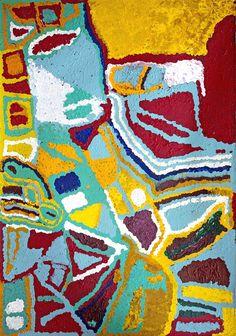 Mabel Wakarta - Sans Titre - 152 x 106 cm - 15-567 http://www.aboriginalsignature.com/martumiliartpeintureaborigene/mabel-wakarta-sans-titre-152-x-106-cm-15-567