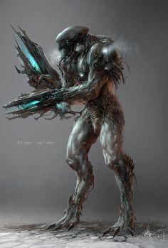 Concept Art: Alien Soldier by Feng Guo – Digital Art