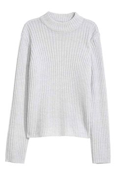 Ribbed jumper - Light grey - Ladies | H&M GB