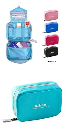 Travel zipper toiletry storage bags portable organizer case waterproof cosmetic bags luggage travel bags voucher code  sc 1 st  Pinterest & Woman cosmetic storage kit toiletry kit bathroom amenities travel ...