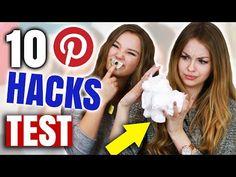 WIR TESTEN 10 PINTEREST BEAUTY HACKS mit Julia Beautx | XLAETA - YouTube