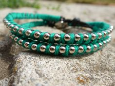 Leather Double Wrap Bracelet Ball Chain by CraftsbyBrittany, $9.50