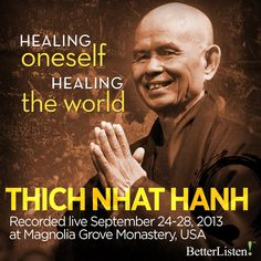 Dharma talks only from the retreat at Magnolia Grove Monastery in 2013 with the theme Healing Ourselves, Healing the World by Thich Nhat Hanh. Meditation Quotes, Mindfulness Meditation, Buddhist Traditions, Zen Master, Byron Katie, Thich Nhat Hanh, Strong Quotes, Change Quotes, Attitude Quotes