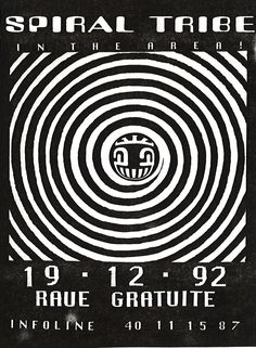FLYER FREE PARTY SPIRAL TRIBE 19-12-92 #TECHNO #NIGHTLIFE