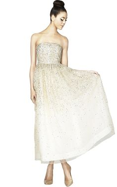 Alex and Olivia Milly embellished ivory gown $778
