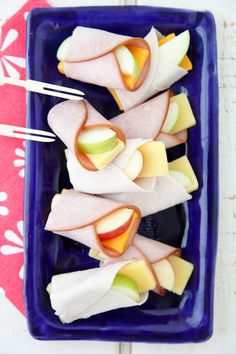 Apple Cheese Wraps a fun alternative to a sandwich in school lunch!