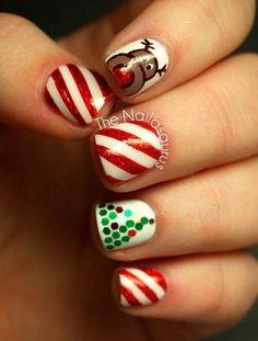 Christmas Nails  I especially love the tree :)