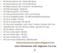 Learn Vietnamese - Daily activities: 123 verbs Northern dialect  Includes some pronunciations from the Vietnamese spoken in the south for various words.