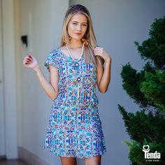 Na temporada primavera/verão é assim: quanto mais estampas, melhor! Então, bora curtir um fim de semana abarrotado de estampas, começando por este vestido mara! #LojasTenda  Confira nossas dicas de moda no blog da Tenda: www.lojastenda.com.br/blog/