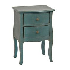 Turquoise Bombay 2-Drawer Accent Table | Kirklands. 18Lx14Wx26H