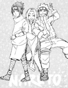 Team 7: Sasuke, Sakura and Naruto