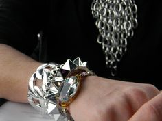 Juego de pulseras en color plata de Las Zarandajas