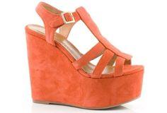 ##wedges #orange #shoes