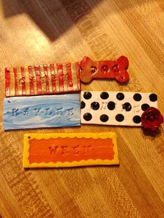 Polymer clay name plates