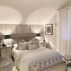 home decor classy 999 Best Bedroom Deco - Hotel Bedroom Decor, Home Bedroom, Bedroom Wall, Master Bedroom, Bedrooms, Minimalist Room, Bedroom Color Schemes, Office, Living Room Inspiration