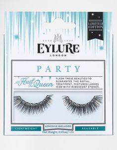 All Hail The Queen - Falsche Wimpern von Eylure definierte Kunstwimpern texturierte Wimpern und schimmernde Steine leicht und wiederverwendbar enthält Wimpernklebstoff Anwendungsanleitung und Pflegetipps enthalten