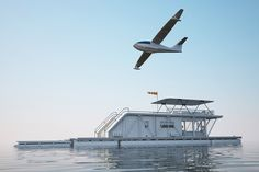 max zhivov's industrial featured hydrohouse includes a water parking for planes