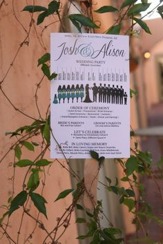 Great shot by Mi Amore Photography of Josh & Alison's wedding program!