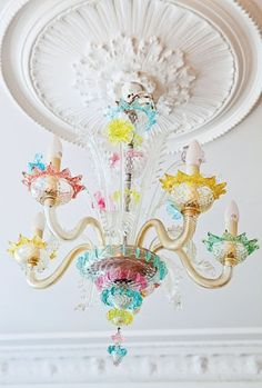 Like an Alice in Wonderland Chandelier!  Colorful & Whimsical