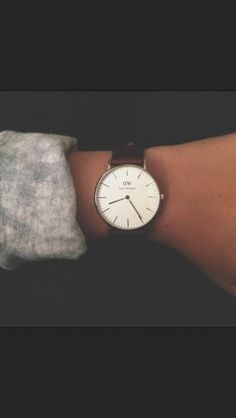 Watch hipster brown simple