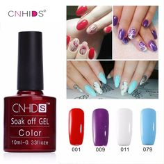 NEW CNHIDS  1PC Nail Gel Polish UV&LED Shining Colorful 132 Colors10ML Long lasting soak off Varnish cheap Manicure  Price: 1.59 USD