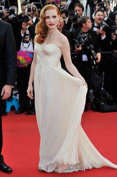 Jessica Chastain in Giorgio Armani, 2012