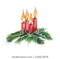 Find Watercolor Christmas Candles stock images in HD and millions of other royalty-free stock photos, illustrations and vectors in the Shutterstock collection. Painted Christmas Cards, Watercolor Christmas Cards, Christmas Drawing, Christmas Card Crafts, Christmas Candles, Christmas Paintings, Noel Christmas, Watercolor Cards, Xmas Cards