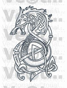 Fenrir Tattoo, Norse Tattoo, Celtic Tattoos, Viking Tattoos, Armor Tattoo, Wiccan Tattoos, Indian Tattoos, Celtic Wolf Tattoo, Viking Symbols